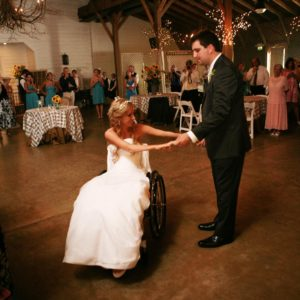 Rachelle Friedman Chapman – The Paralyzed Bride at her wedding