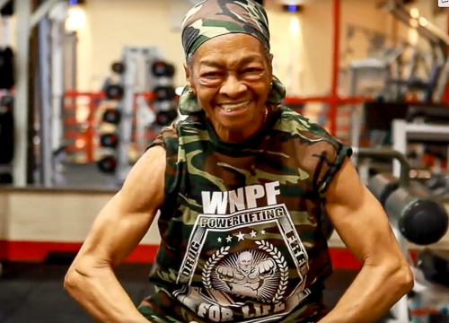 She started strength training in her 70s and now she's stronger than people half her age. Strength training halts muscle loss, increases bone density, makes your heart stronger, helps control blood sugar, and improves your balance and flexibility. (2:03)